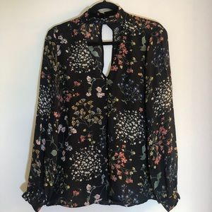 Belle Vere Long sleeve fall floral top